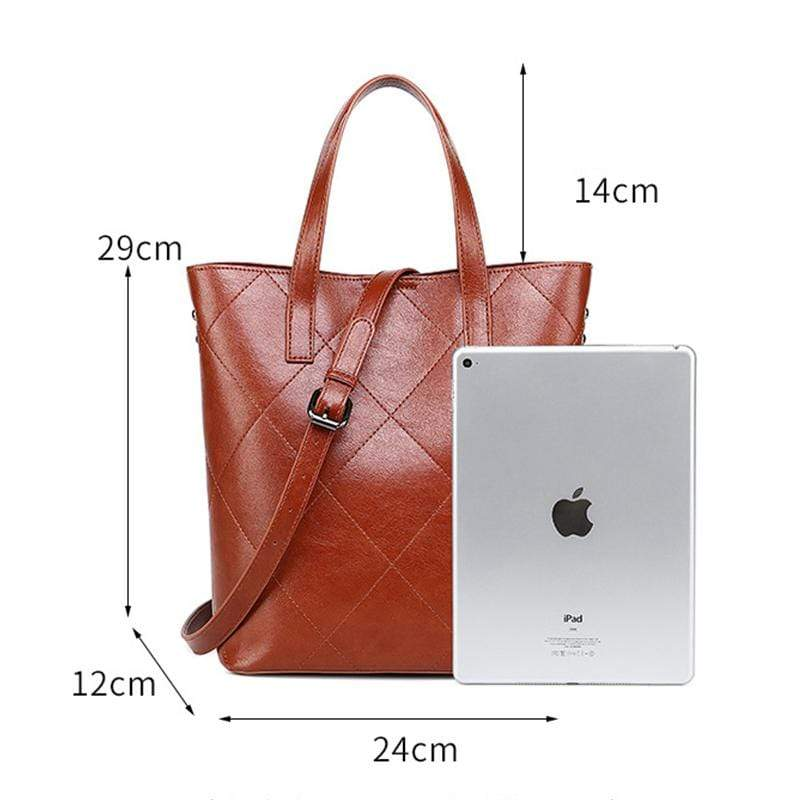 Obangbag Women Retro Fashion Elegant Large Capacity Gradient Multi Pockets Leather Handbag Crossbody Bag