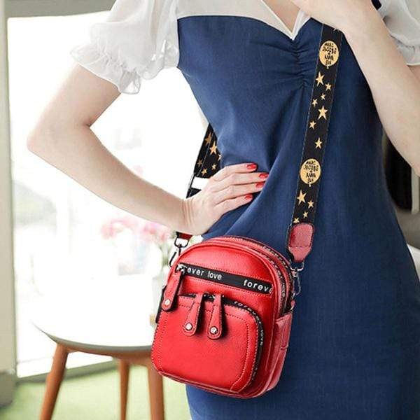 Obangbag Women Retro Mini Cute Stylish PU Leather Crossbody Bag Shoulder Bag