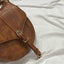 Obangbag Women Retro Vintage Mini Leather Round Shoulder Bag Crossbag Handbag