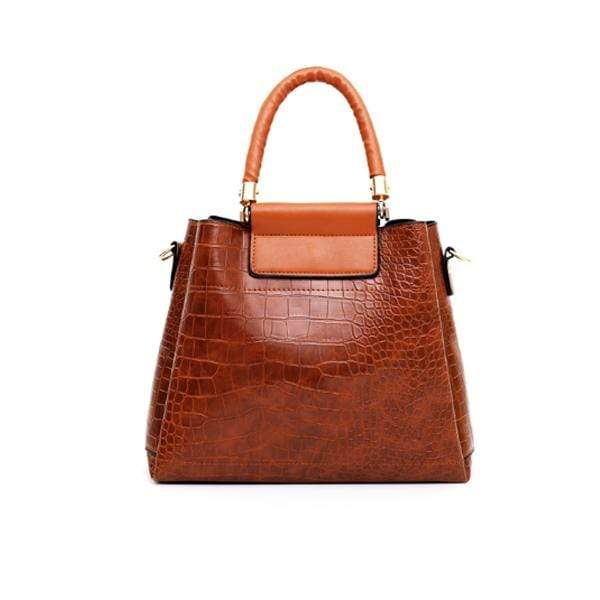 Women Retro Vintage Multi Pockets Crocodile Leather 4In1 Shouder Bag Crossbody Bag Purse Handbag Bag Set