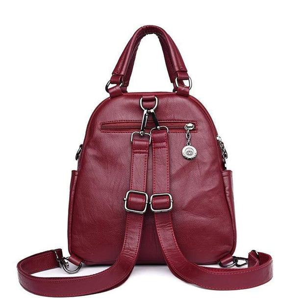 obangbag Women's Multi Function Leather Backpack Shoulder Bag Fashion Handbag