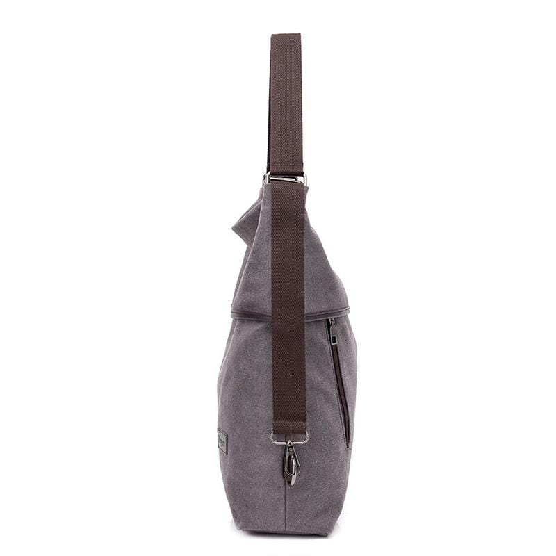 Obangbag Women Simple Casual Multifunction Large Capacity Lightweight Canvas Backpack Shoulder Bag Crossbody Bag for Work for School