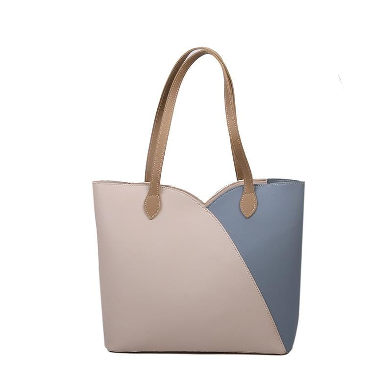 Obangbag Women Simple Casual Roomy Lightweight Leather Tote Bag Handbag for Work
