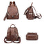 Obangbag Women Simple Chic Roomy Multifunction Leather Backpack Bookbag for Work for School