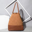 Obangbag Women Simple Vintage Roomy Patchwork Gradient Leather Bucket Bag Tote Bag Handbag