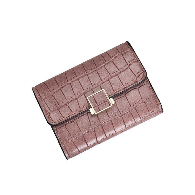 Obangbag Women Stylish Chic Multi Layers Crocodile Pattern Leather Wallet Purse