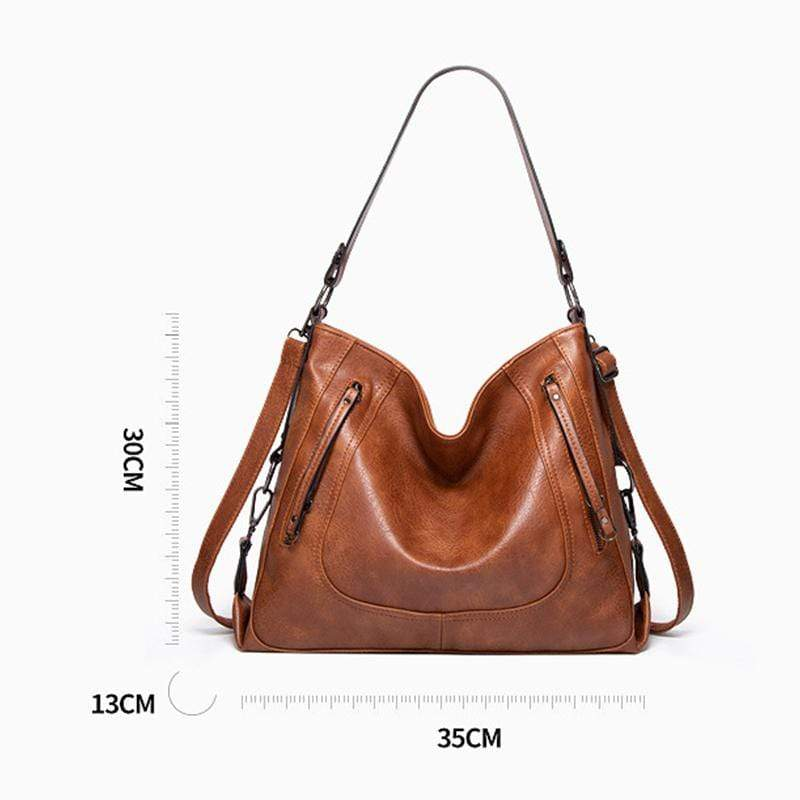 Obangbag Women Vintage Big Large Capacity Multifunction Professional Leather Tote Bag Crossbody Bag for Work