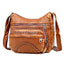 Obangbag Women Vintage Casual Lightweight Roomy Multi Pockets Soft Leather Shoulder Bag Crossbody Bag for Work
