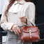 Obangbag Women Vintage Chic Elegant Multi Pockets Roomy Leather Handbag Crossbody Bag