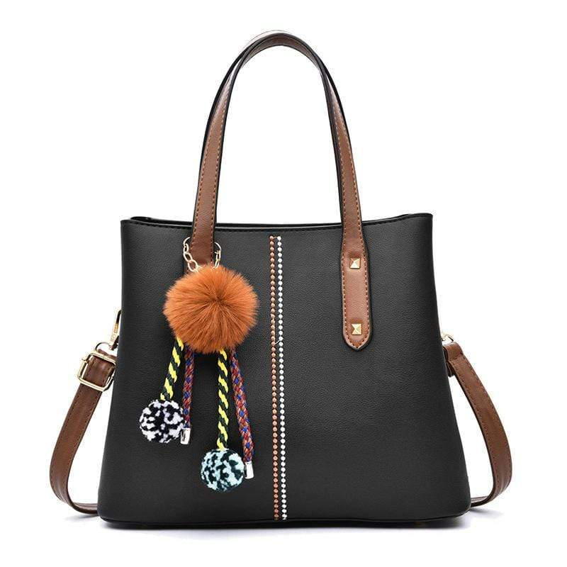 Obangbag Women Vintage Chic Large Capacity Professional Leather Handbag Shoulder Bag Crossbody Bag