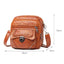 Obangbag Women Vintage Chic Mini Multi Pockets Lightweight Soft Leather Crossbody Bag Shoulder Bag
