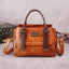 Obangbag Women Vintage Crocodile Pattern Leather Handbag Multi Pockets Shoulder Bag