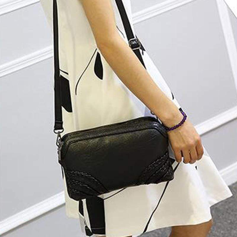 Obangbag Women Vintage Cute Mini Roomy Professional Soft Leather Crossbody Bag Shoulder Bag