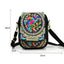 Obangbag Women Vintage Cute Mini Stylish Embroidery Canvas Phone Bag  Crossbody Bag Shoulder Bag