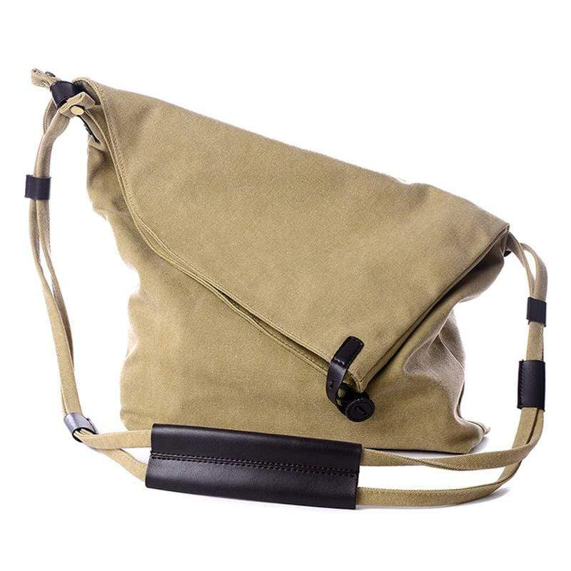 Obangbag Women Vintage Fashion Simple Large Capacity Multifunction Canvas Shoulder Bag Crossbody Bag for School