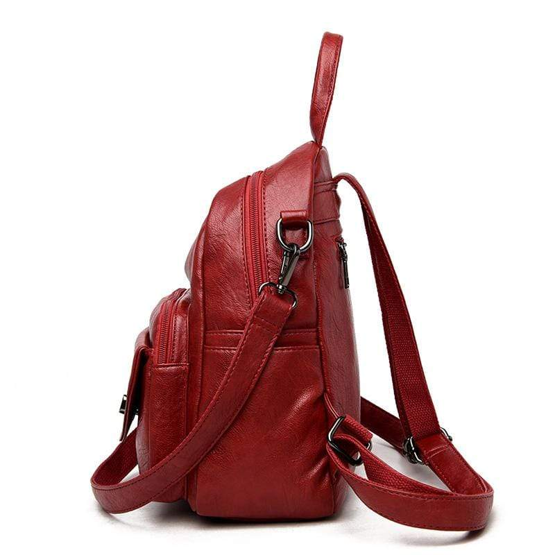 Obangbag Women Vintage Multifunction Roomy PU Leather Backpack Shoulder Bag Bookbag