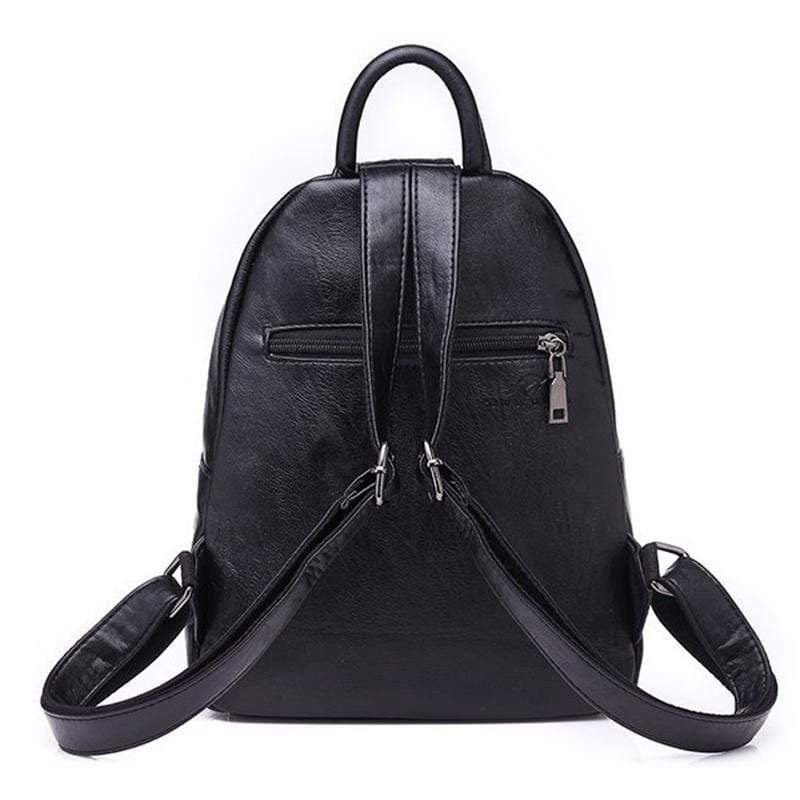 Obangbag Women Vintage Roomy Lightweight Waterproof Soft Leather Backpack for Work for Travel
