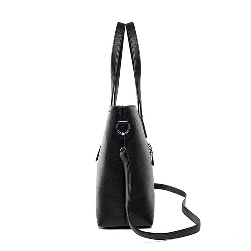 Obangbag Women Vintage Stylish Large Capacity Professional Soft Leather Handbag Shoulder Bag Crossbody Bag for Work