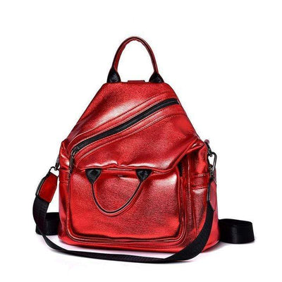 Obangbag Women Vintage Work Purse Backpack Large Capacity Messenger Bag