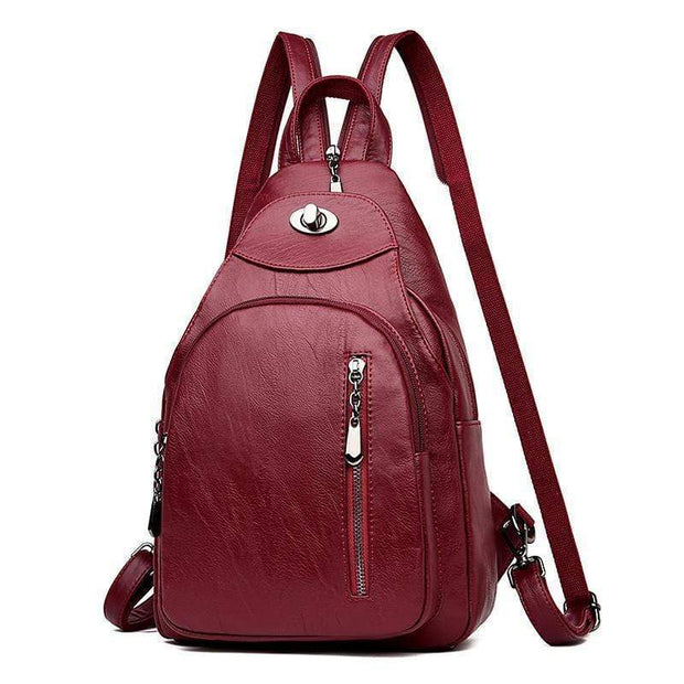 obangbag Women Wild Casual Backpack Multifunctional Leather Backpack