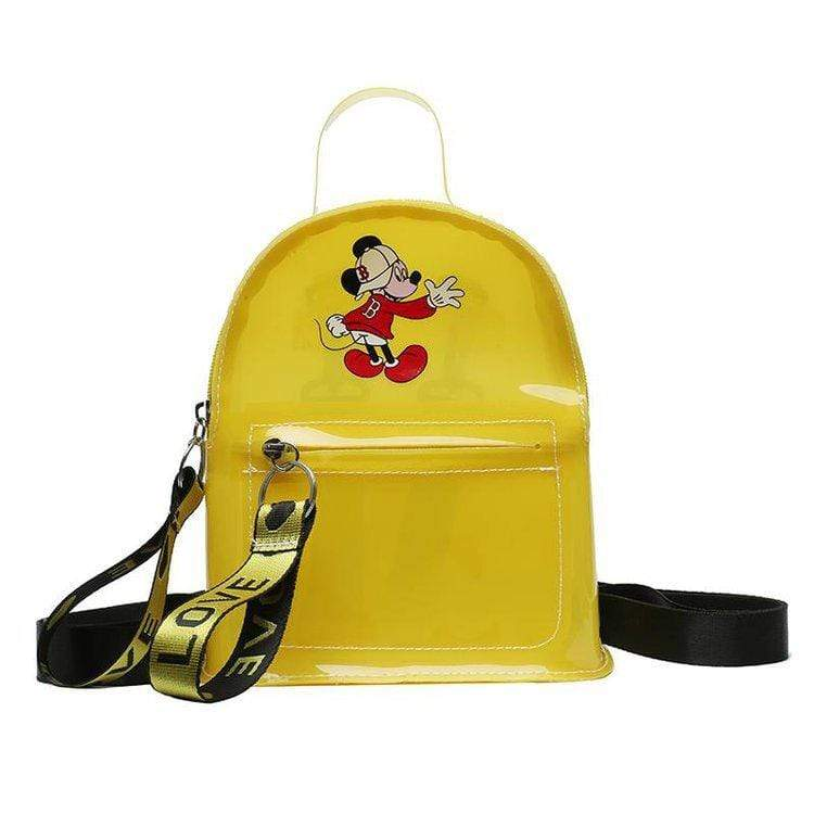 Obangbag Yellow Cartoon Printed Unisex Chic Casual Cute Summer Clear Transparent Plastic Backpack for Children