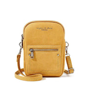 Obangbag Yellow Chic Douple Zipper Women Mini Phone Bag Crossbody Bag