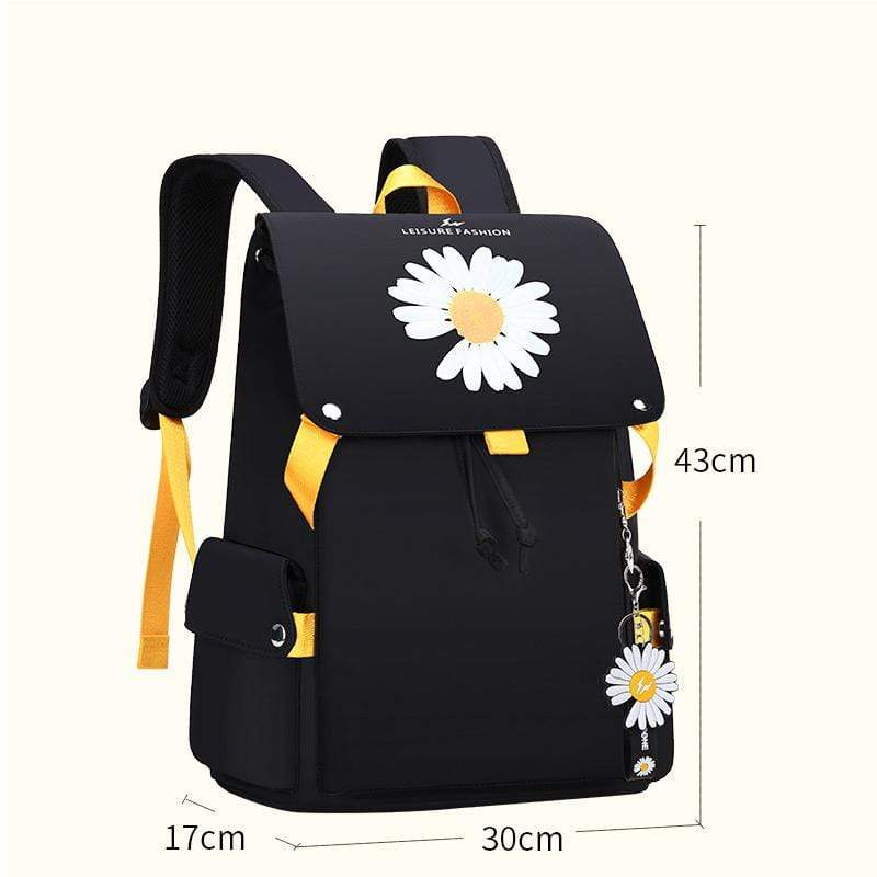 Obangbag Yellow Women Casual Large Capacity Waterproof Canvas Backpack Bookbag for School for Travel