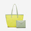 Obangbag Yellow Women Chic Big Summer Large Capacity Woven Straw Tote Bag Handbag Bag Set for Travel