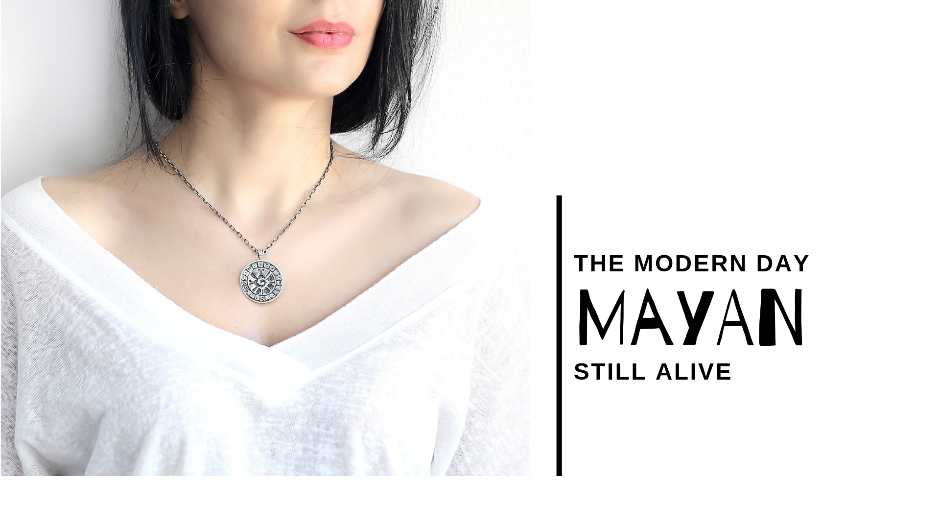 mayan silver pendant necklace chain