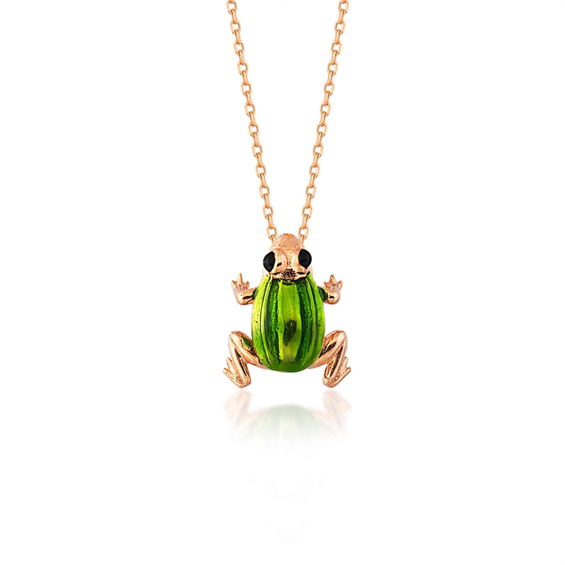 Frog Silver Necklace
