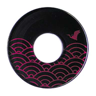 Deluxe Decorated Plastic Tsuba - Wine Namichidori