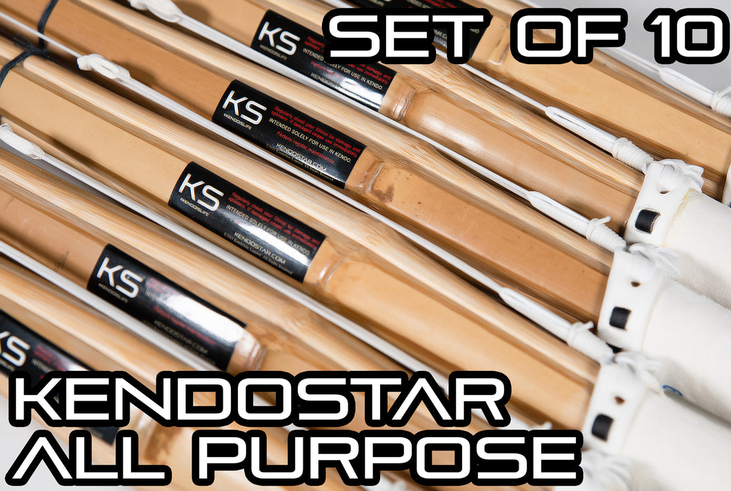 Original KendoStar Model Ultimate ALL-PURPOSE Shinai - Set of 10