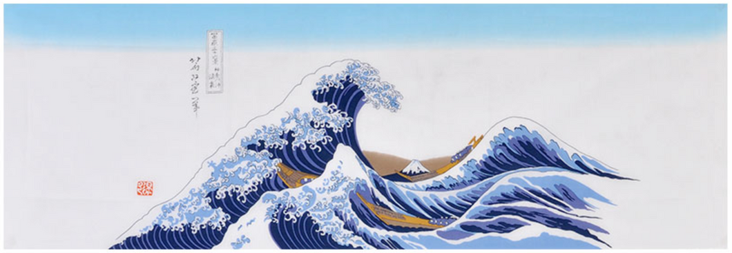 The 'Great Wave' Deluxe Tenugui