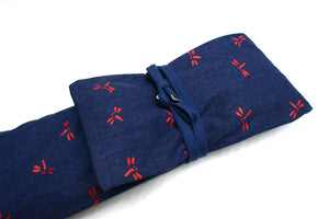 Navy 'HANPU' Shinai Bag FUDOSHIN for 3 Shinai - Made in Japan