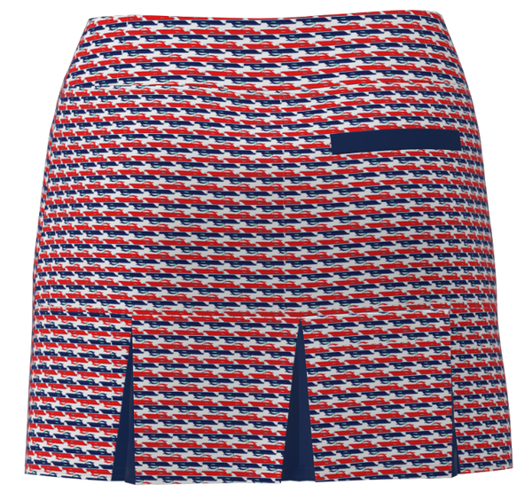 AB SPORT Women's Golf Skort  BSKG05-REBN : RED NAVY BOATS - ABSport