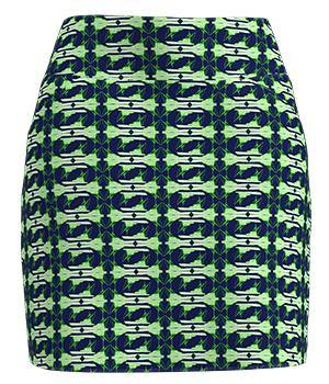 Allie Burke Sport Fishing Boat Print Pull On Golf Skort