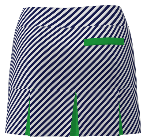 AB SPORT Women's Back Pleat Golf Skirt - NVCSG
