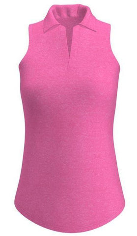 Allie Burke UV 40+ Coral Golf Sleeveless Polo Shirt