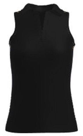 Allie Burke UV 40+ Black Golf Sleeveless Polo Shirt