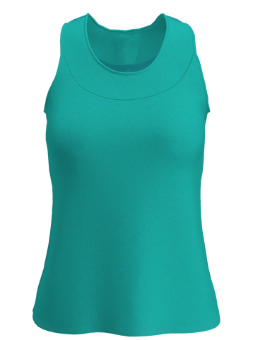 Seafoam U-Neck Women's Tennis Tank