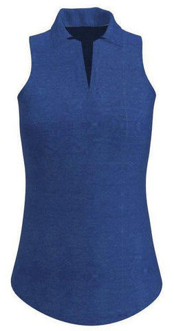 AB SPORT UV 40+ Royal Women's Golf Sleeveless Polo Shirt - ABSport