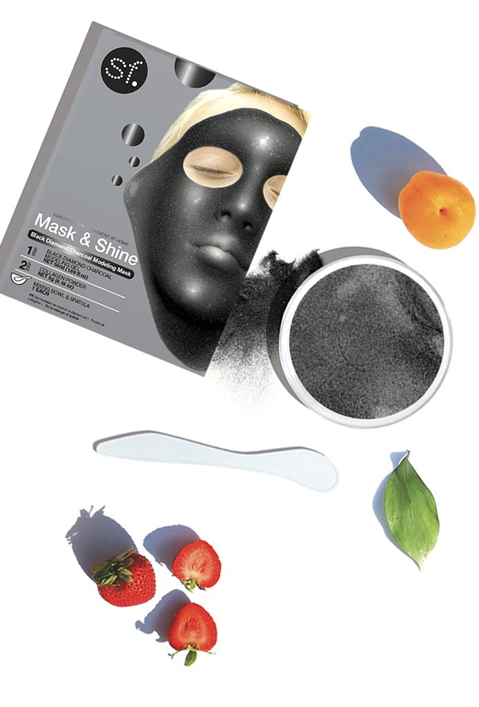 Mask & Shine Black Diamond Charcoal Modeling Mask