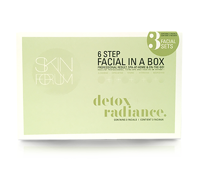 DETOX + RADIANCE Facial In A Box - 3 Pack