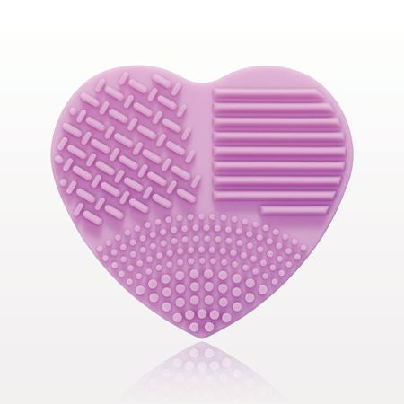 Heart Shaped Makeup Brush Cleansing Pad
