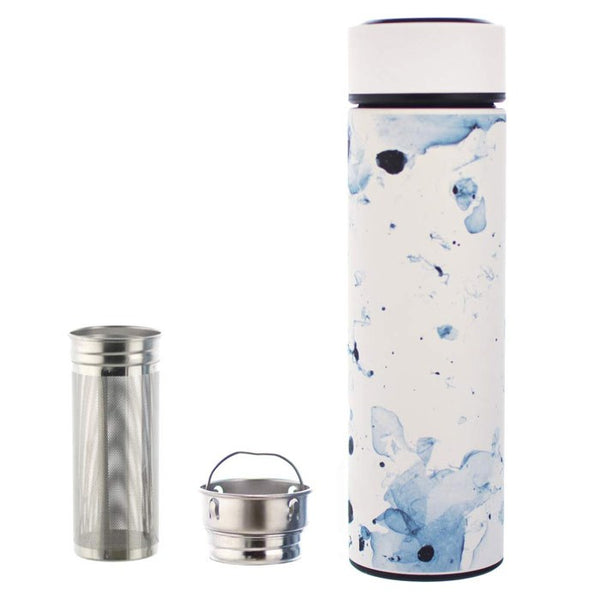 Chicago White Marble Tea Infuser Bottle
