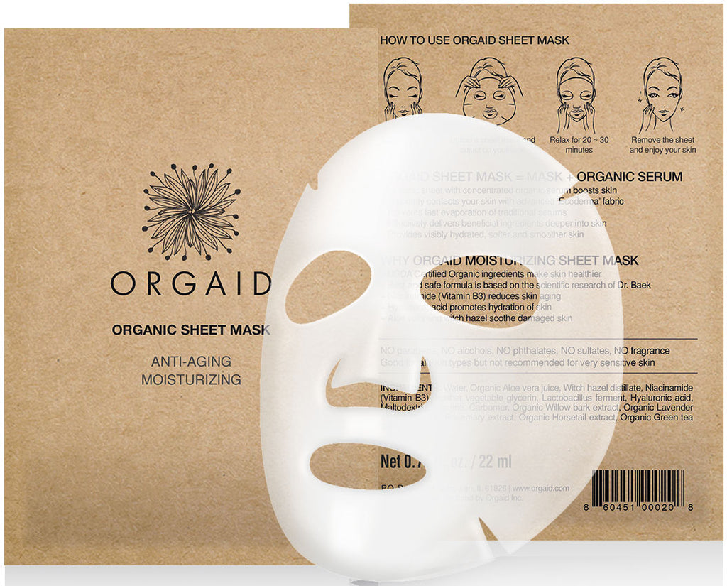 ANTI-AGING & MOISTURIZING ORGANIC SHEET MASK BOX SET