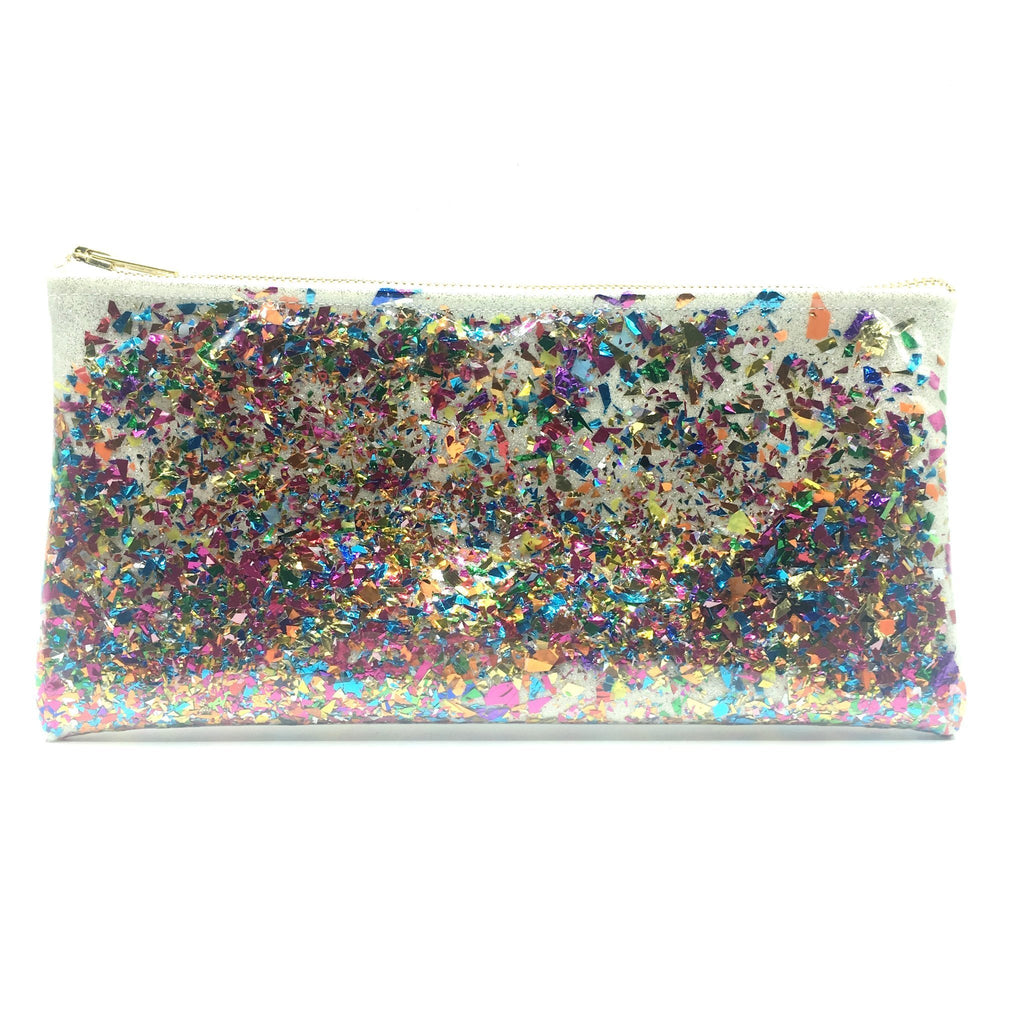 Rainbow Party Confetti Clutch