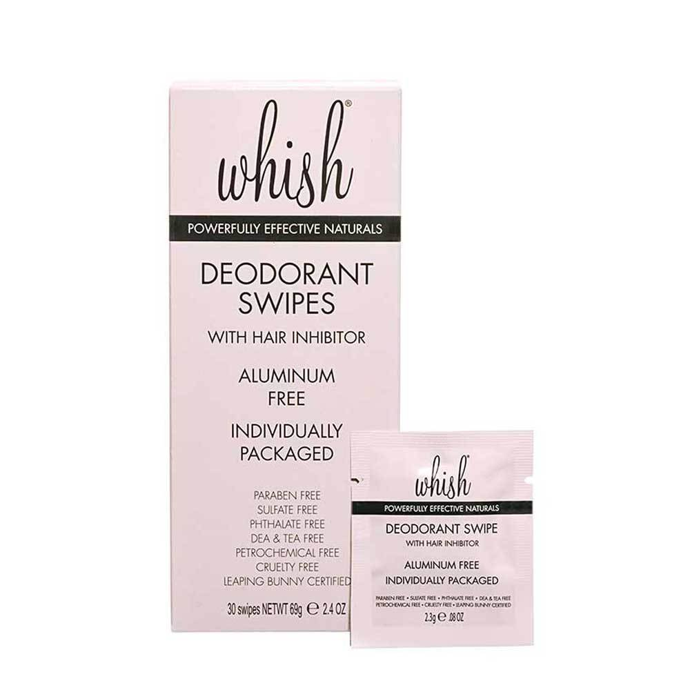 Deodorant Swipes with Hair Inhibitor-30 Pack