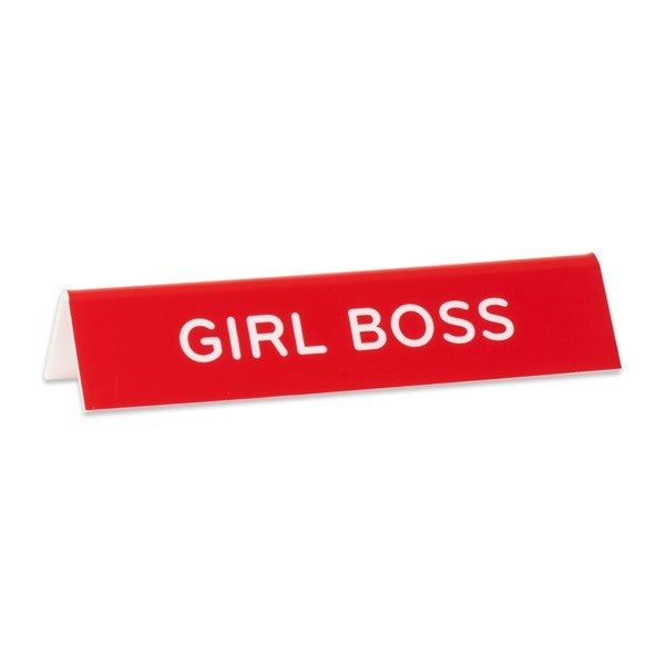 Girl Boss Desk Sign