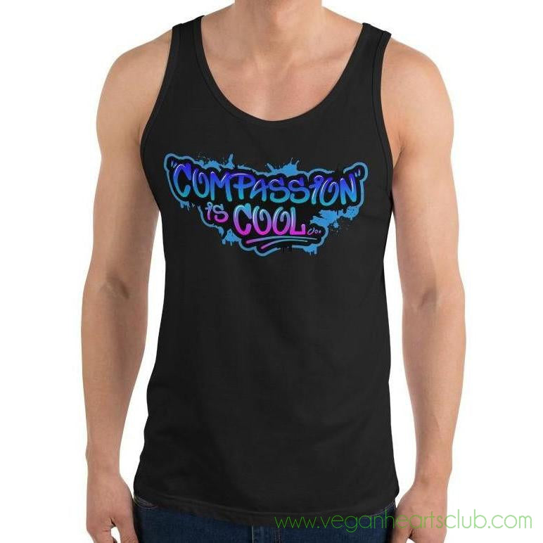 Compassion is COOL Blue Graffiti Mens Tank Top